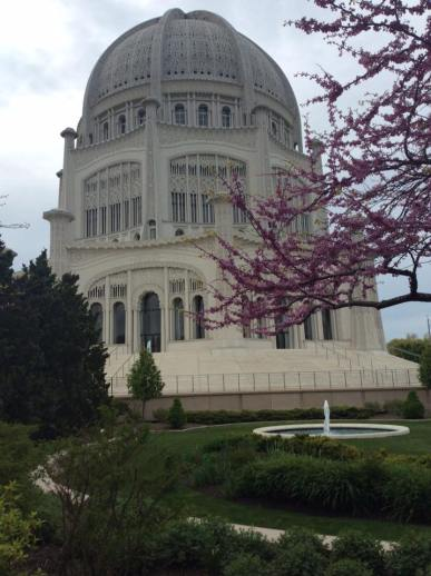 The Baha'i Temple in the Spring located in Wilmette, Illinois.